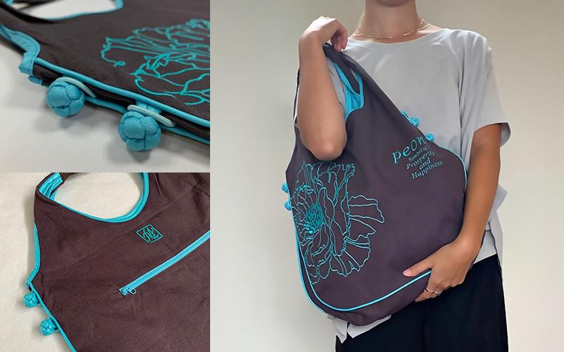 刺繍バッグアジアンノット nanfan